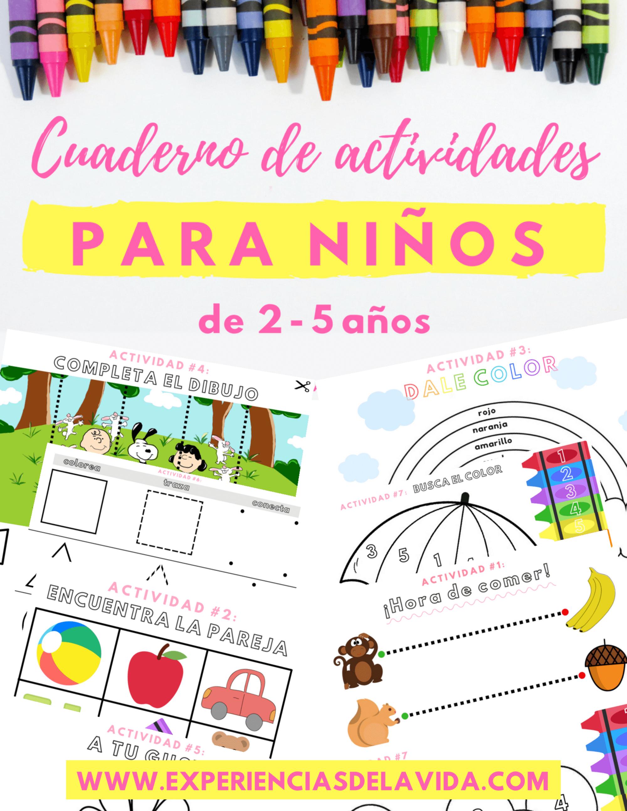 Cuaderno de actividades para niños de 2 a 5 años – Experiencias de ...